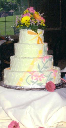 Mosiac Wedding Cake