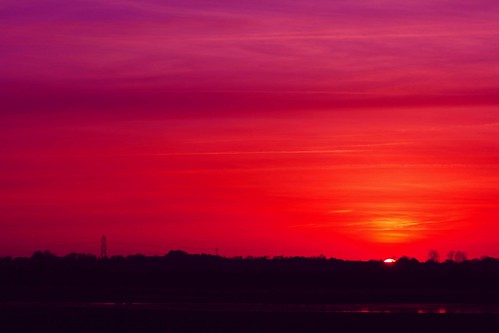 sunset red england sky sun clouds kent purple sandwich