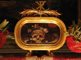 Reliquary of Saint Valentine, Basilica di Santa Maria in Cosmedin, Rome