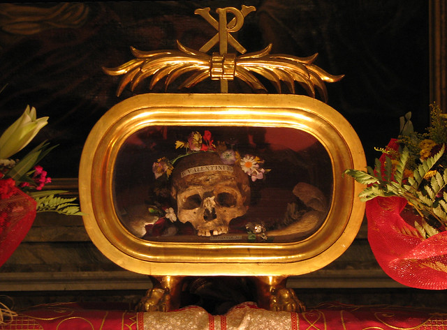 St Valentine's relics in Rome