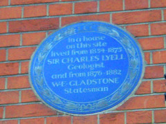 Photo of William Ewart Gladstone and Charles Lyell blue plaque