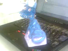 papercraft of magic dragon