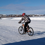 Cycling on the Ice Road