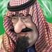 Small photo of King Abdullah - Caricature