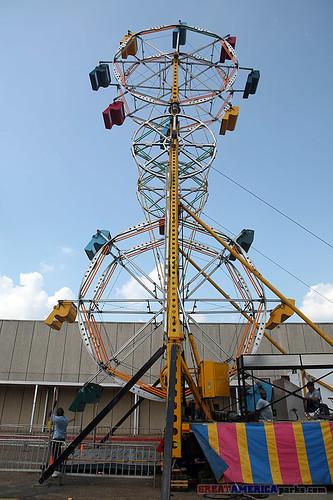 carnival wheel amusement louisiana fair monroe ferriswheel midway amusementrides skywheel monroelouisiana doubleferriswheel arklamiss arklamissfair allanherschell