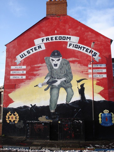 Loyalist grim reaper mural village area belfast n for A mural with an area of 18m2