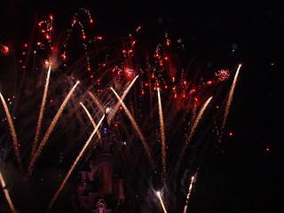 Eurodisney fireworks over castle