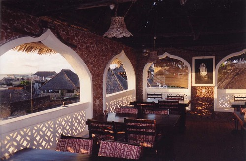 Restaurant at the Stone House Hotel in Lamu, Kenya