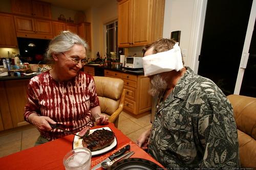 anna feeding her blind husband steak for dinner    MG 9896