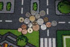 Geld liegt auf der Straße