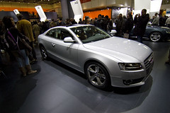 executive car(0.0), audi sportback concept(0.0), automobile(1.0), audi(1.0), exhibition(1.0), wheel(1.0), vehicle(1.0), automotive design(1.0), auto show(1.0), audi a5(1.0), sedan(1.0), land vehicle(1.0), luxury vehicle(1.0), coupã©(1.0), motor vehicle(1.0),