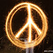 Peace Sign with Sparklers: 54,500 views