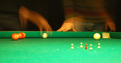 snooker(0.0), cue stick(0.0), billiard table(0.0), carom billiards(0.0), indoor games and sports(1.0), individual sports(1.0), sports(1.0), recreation(1.0), nine-ball(1.0), pool(1.0), table(1.0), games(1.0), green(1.0), billiard ball(1.0), eight ball(1.0), english billiards(1.0), cue sports(1.0),