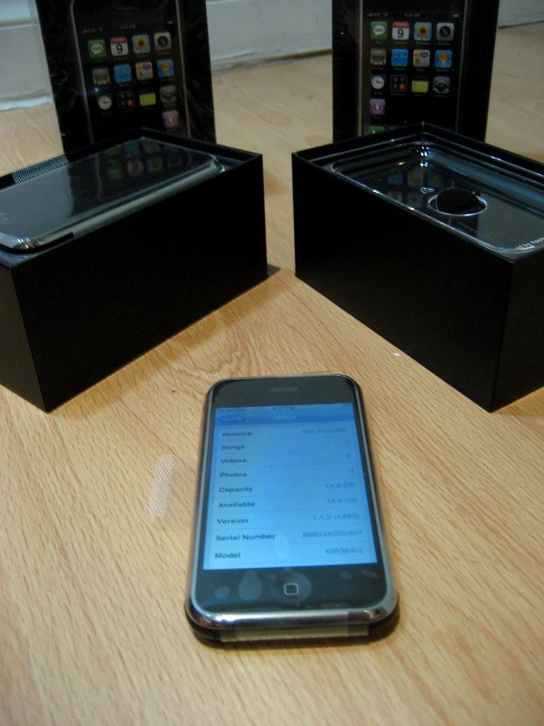 2 iPhones and Boxes