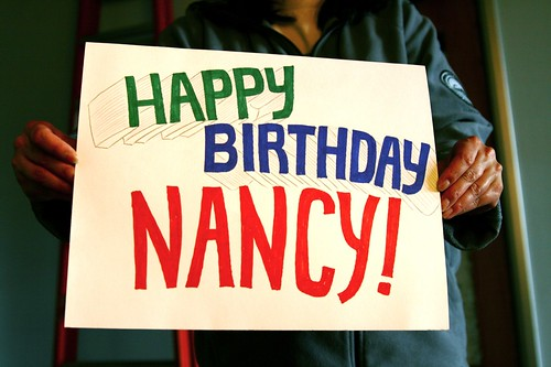 today is Nancy's birthday
