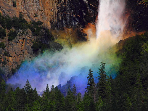 IMG_8800 Rainbow and Bridalveil Falls, Yosemite National Park