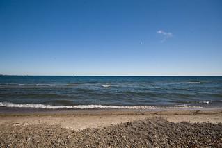 Image de Marie Curtis Park East Beach plage de sable. ontario canada mississauga mariecurtispark