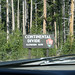 "Continental Divide - we are officially ""WEST"""