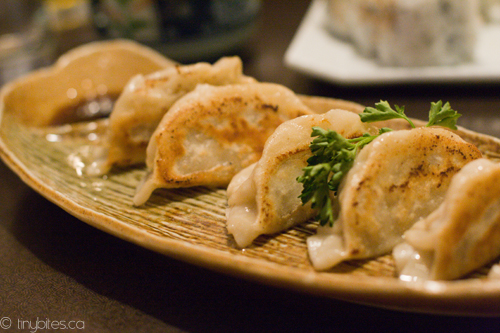 Okada Sushi: pork gyoza | 6 pieces of pan-fried Japanese dum ...