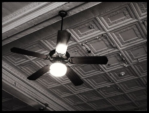 Tin Ceiling With Fan