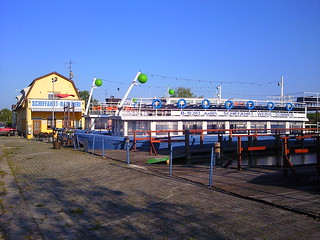 Ferries at Morbisch am See in Burgenland, Austria