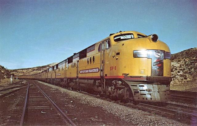 "Postcard - CNW, UP, & SP's ""City of San Francisco"" Passenger Train"