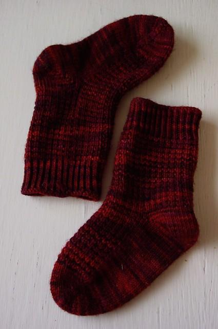 Knitting Vintage Socks Nancy Bush : Small photo of fo toddler s half hose in ringwood pattern