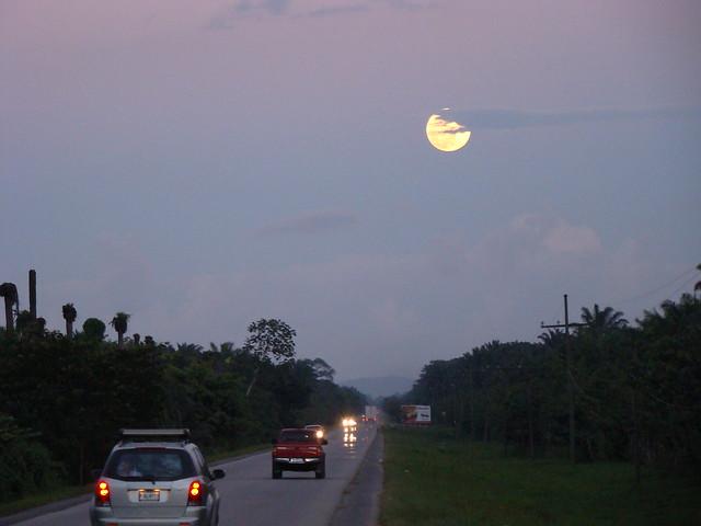 Moon over Aguan Valley