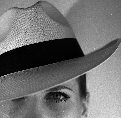 Girl with a panama hat