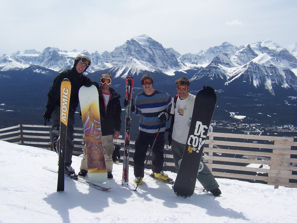 Skiers in the Lake Louise Ski Area