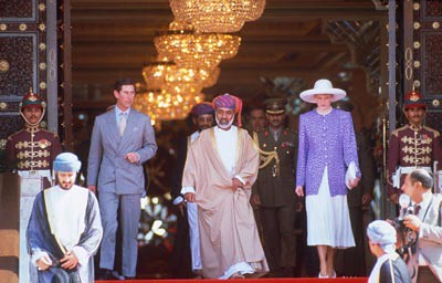 Prince Charls and Princess Diana in Oman 1986