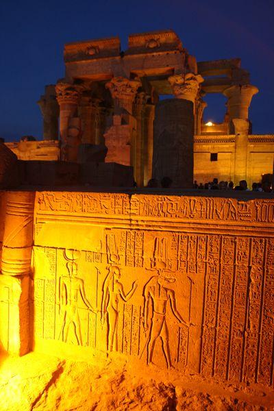 Templo de Kom Ombo de noche Templos a la orilla del río Nilo en Egipto - 2473739125 74935eec0c o - Templos a la orilla del río Nilo en Egipto