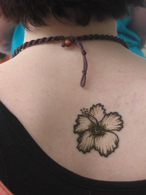 Henna Tattoo Richmond Va : Hibiscus done at the strawberry street festival in