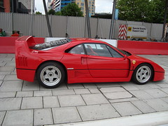 ferrari 288 gto(0.0), ferrari 348(0.0), ferrari 308 gtb/gts(0.0), ferrari f355(0.0), ferrari testarossa(0.0), race car(1.0), automobile(1.0), vehicle(1.0), performance car(1.0), automotive design(1.0), ferrari f40(1.0), ferrari s.p.a.(1.0), land vehicle(1.0), luxury vehicle(1.0), supercar(1.0), sports car(1.0),