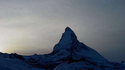 Matterhorn (VS/I - 4`478m) bei Zermatt im Kanton Wallis in der Schweiz