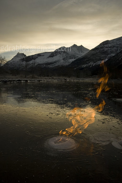 Methane gas (swamp gas)