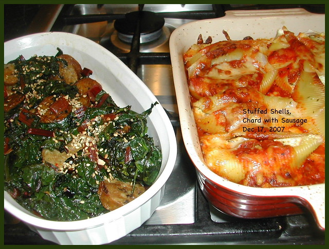 Stuffed Shells and Swiss Chard | Flickr - Photo Sharing!