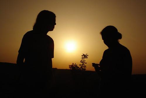 sunset silhouette taizé