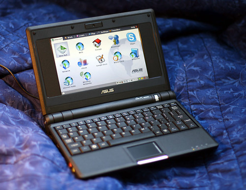 My new laptop: Black Asus EEE PC