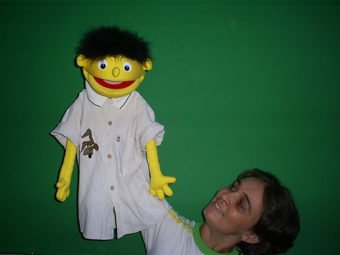 Green Screen and Puppet