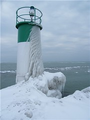 Canadian Lighthouse in winter