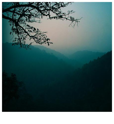 blue mist fog sunrise soft silent valley beforesunrise silentvalley magicallight sleepyvalley