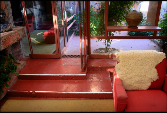 Red Stairs, Taliesin West, 2008