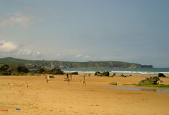 Jugando en la playa