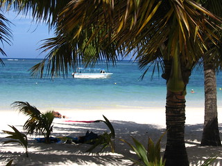 Image of The beach at trou aux biches Beach with a length of 1188 meters near Triolet. beach bluewater palmtrees mauritius mu whitesand seaocean