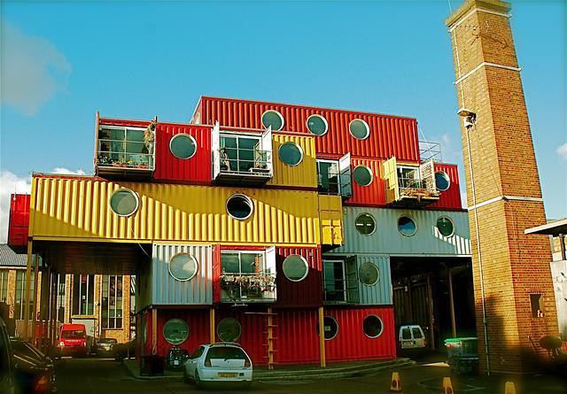 Up scaled cargo containers a gallery on flickr for Hive container homes
