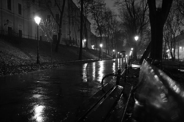 Rainy street at night in Krakow | Flickr - Photo Sharing!