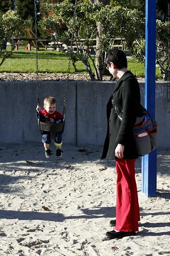 having fun in the baby swing    MG 7389