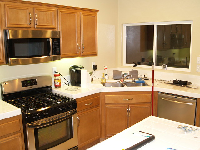 kitchen microwave cabinets kitchen with new stove microwave and dishwasher installed 2300
