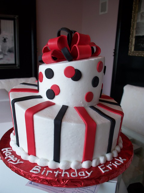 Black and Red Topsy Turvy Man's Birthday Cake   Flickr ...